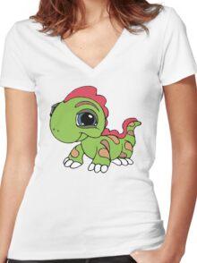 Littlest Pet Shop Lizard Women's Fitted V-Neck T-Shirt