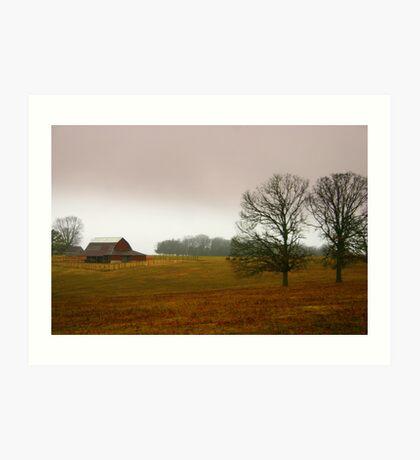 Rural Missouri in December Art Print