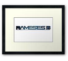 Rameses B - Stylish Space Logo Framed Print