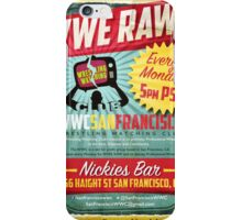 Vintage Retro San Francisco Wrestling Watching Club Flyer iPhone Case/Skin