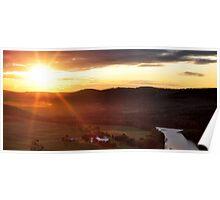 Sunset over Towanda, PA Poster