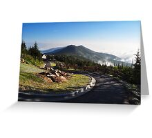 View from Mount Mitchell Greeting Card