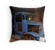 1917 Oil Drilling Rig Throw Pillow