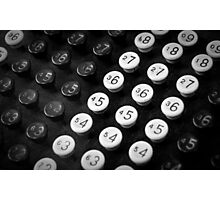 Adding Machine Photographic Print