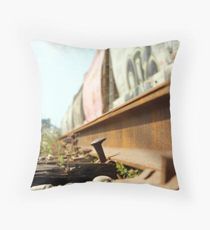 Keep On Track Throw Pillow