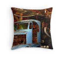 1917 Sanderson Drilling Rig Throw Pillow