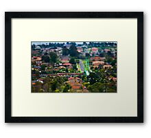 "Suburban ""scaled model"" Framed Print"