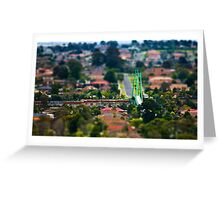 "Suburban ""scaled model"" Greeting Card"