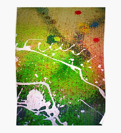 Spilled Paint Poster