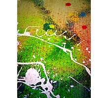 Spilled Paint Photographic Print