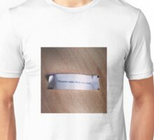 Winners make their own luck fortune cookie Unisex T-Shirt