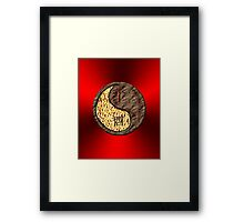 Aries & Rooster Yin Earth Framed Print
