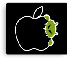 Android Bite Apple Canvas Print