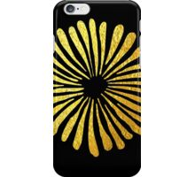 Black gold daisies iPhone Case/Skin