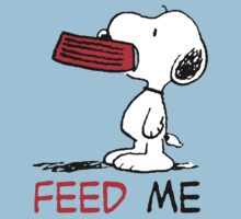 Snoopy Feed Me by Silvanust