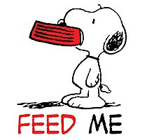 Snoopy Feed Me Photographic Print