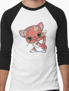 Littlest Pet Shop Cat Men's Baseball ¾ T-Shirt