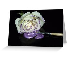 A Touch of Purple-The Painters Palette Greeting Card
