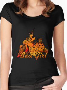 Rockabilly Bad Girl Women's Fitted Scoop T-Shirt