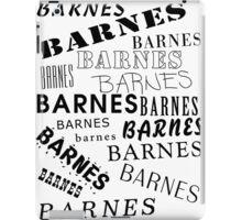 Barnes Surname Design iPad Case/Skin