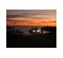 Sunrise At the Boat Ramp Art Print
