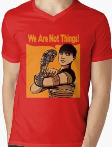 We Are Not Things Mens V-Neck T-Shirt