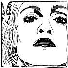 Maze-Donna - Maze Portrait of Madonna by Yonatan Frimer