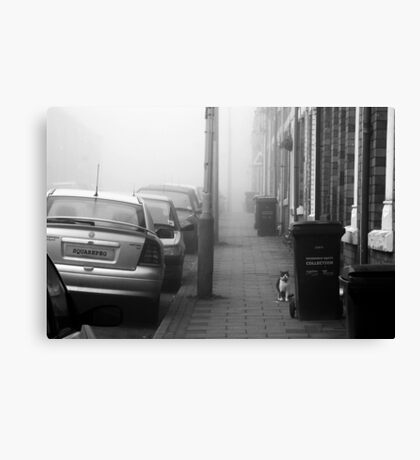 Foggy Morning on Collection Day Canvas Print
