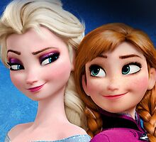 Elsa And Anna My Queen by MonaLisaArt