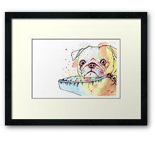 Parker the Pug Framed Print