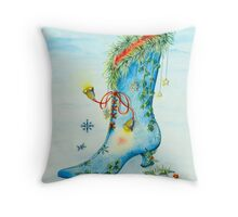 Snow Boot Throw Pillow