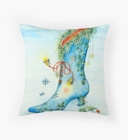 Snow Boot Throw Pillow