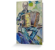accordian player Greeting Card
