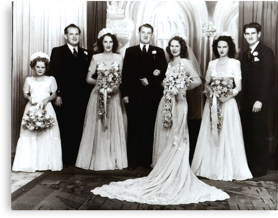 'The Bridal Party Of The 1940's' by StarKatz