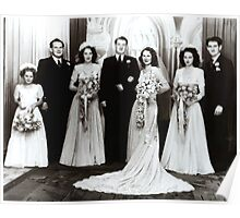 'The Bridal Party Of The 1940's' Poster