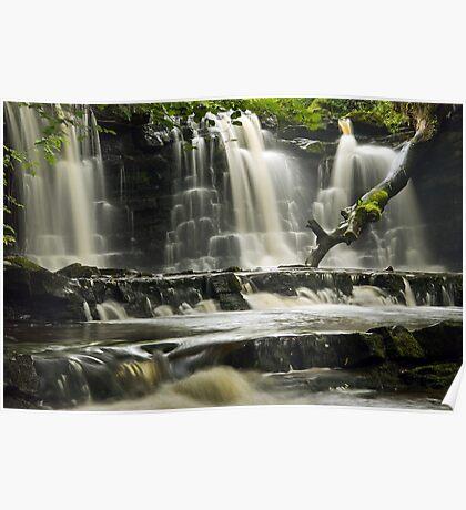 Scarloom Waterfall, Holden, Lancashire Poster