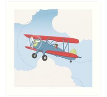 Aviator Up and Away Art Print
