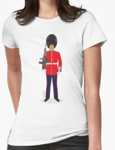 Welsh Guard Soldier Womens Fitted T-Shirt
