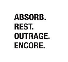 Absorb Rest Outrage Encore (Black) Photographic Print
