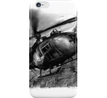 Gazelle Helicopter Ink Drawing iPhone Case/Skin