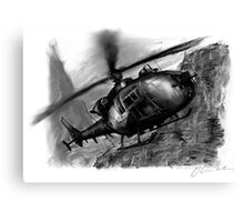Gazelle Helicopter Ink Drawing Canvas Print
