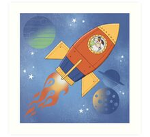Dreaming my way to the Moon Art Print