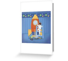 Goodnight, I'm going to my Space Rocket Greeting Card