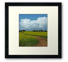 The Track - near Northam, Western Australia Framed Print