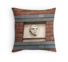 Birmingham Gas Street Basin - Thomas Telford Plaque (5086) Throw Pillow