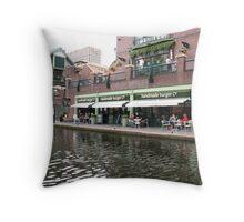 Birmingham Gas Street Basin (5088) Throw Pillow
