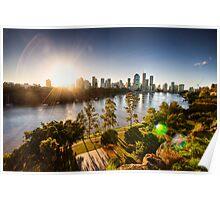 Brisbane City Sunset HDR Poster