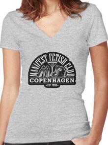 ManiFest Fetish Club Copenhagen Women's Fitted V-Neck T-Shirt
