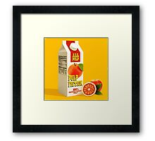 pulp fiction juice box Framed Print
