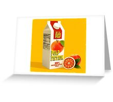 pulp fiction juice box Greeting Card